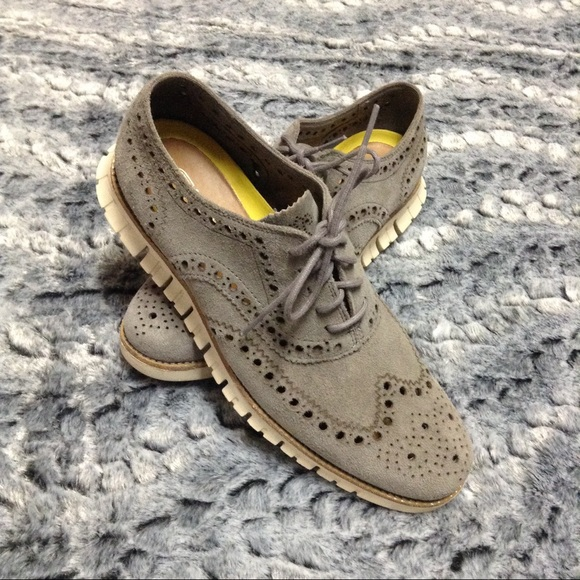 320aeca4dbf8c1 Cole Haan Other - Cole Haan mens zerogrand wingtip oxford gray suede